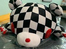 Gloomy Bear Plush Lying Flat 18 inch long Checkered Black and white