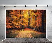 7x5Ft Autumn Maple Forest Photography Backdrop Vinyl Photo Background Props