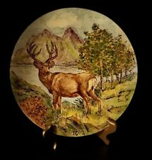 "VTG WEST GERMANY DEER PLATE 10"" EXCELLENT"