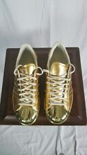 Adidas Originals 80s Metallic Gold Shell Toe Sneakers 6 1/2 Mens