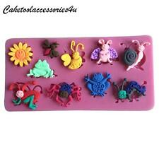Cute little insects silicone Chocolate cake fondant decoration Icing mould fimo