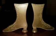 Pair Antique Boot Whimsical Mantle Garnitures 19th Century