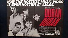 DURAN DURAN GRAMMY AWARD WINNER (1984)  RARE ORIGINAL PRINT PROMO POSTER AD