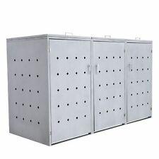 Mülltonnenbox Rhombus Cement 3er Müllbox Mülltonnenverkleidung abschliessbar