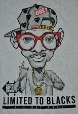 T-SHIRT S SMALL SPIKE LEE OBEY HIP HOP LIMITED TO BLACKS URBAN SHIRT