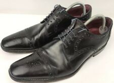 Loake Men's Black Leather 'Foley' Lace Up Derby Shoes Size UK 8 - Last Ridge/F