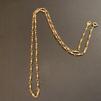 """Vintage Trifari TM Gold Tone Fancy Link  24"""" Chain Necklace"""
