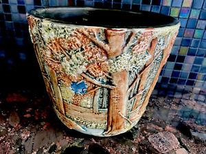 "Weller Pottery Forest Pottery Vase Jardinière 7 1/2"" Tall, Art & Crafts Era"