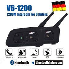 1200M Motorrad Helm Sprechanlage Gegensprechanlage Intercom Headset 2PCS BT DE