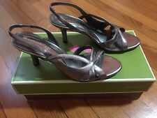 Naturalizer NICKEL ALLOY PRISSY SANDALS SHOES HEELS SIZE 6 M LOOKS GREAT!