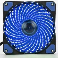 NEEDCOOL GI 120mm 12cm BLUE 15 x LED ULTRA SILENT CHASSIS CASE FAN - 1200RPM