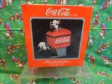 """Enesco Ornament Coca-Cola """"Have a Coke & a Smile"""" 2nd Series New in Box 1990-92"""