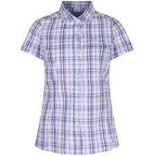 Regatta Jenna Ladies Summer Lightweight Coolweave Cotton Checked Shirt Rws013 16 Candy Shock