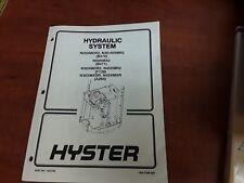 Hyster Hydraulic System Part No. 1453700 1900 SRM 689