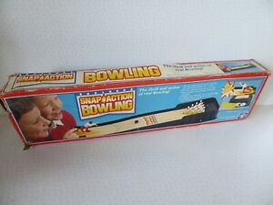 Vintage 1988 Shelcore Snap Action Bowling Game 01808  Instructions Tatty Box