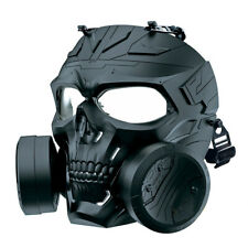 Adjustable Paintball Airsoft Game Face Guard Dual Fans Breathable Protector