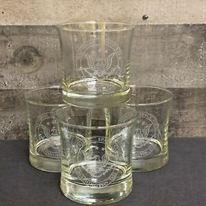 Vintage National Space Club Eagle Washington DC Lowball Whiskey Glass set of 4