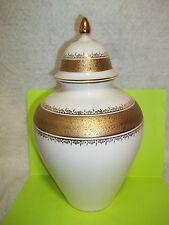 Vintage Royal Beveria KM Porcelain Jar Vessel 24K Gold Decorated Made in Germany