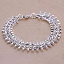 """Unisex Women's 925 Sterling Silver Bracelet 8"""" L13"""