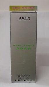 JOOP WHAT ABOUT ADAM MEN 4.2 OZ /125 ML EAU DE TOILETTE EDT SPRAY NEW IN BOX