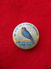 "Vintage "" happy birthday... bless thee "" pin"