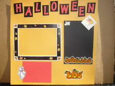 HALLOWEEN Premade / Pre Made Scrapbook Pages
