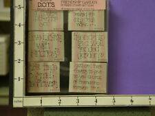 dots friendship garden bloom flowere sayings s144 set foam rubber stamps 30x