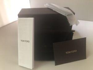 TOM FORD Dark Brown Velvet Hard Clam Shell Sunglass/Glass Case BOX CLOTH NEW