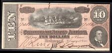 Confederate States: Ten dollars, Feb-17-1864, No; 19388, (Pick; 68). VF-EF.