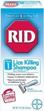 RID Lice Killing Shampoo Step 1 With Comb 8oz Each