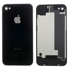 TAPA DE BATERÍA BACK COVER CRISTAL COLOR NEGRO PARA APPLE IPHONE 4S