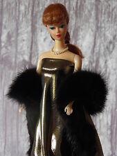 """AllforDoll Brown Mink Fur BOA for 11.5"""" Vintage Silkstone Barbie Fashion Dolls"""