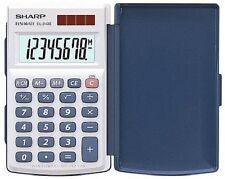 Sharp EL-243S Taschenrechner mit Klappdeckel, 8-stellig, 3-Tastenspeicher, Solar