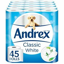 Andrex Classic Clean Toilet Tissues Toilet Paper 5 x 9 Rolls (45 rolls) New
