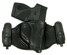 TAGUA BLACK LEATHER DUAL SNAP-ON QUICK DRAW OWB BELT HOLSTER - KIMBER SOLO 9