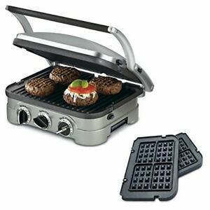 Cuisinart GR-4N 5-in-1 Griddler W/ Waffle Plates