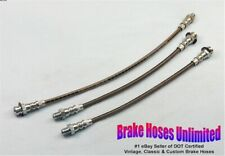 STAINLESS BRAKE HOSE SET Pontiac Torpedo 1942 1946 1947 1948