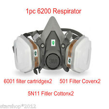 7in1 Safety Painting Spraying For 3M 6200 N95 Half Face Dust Gas Mask Respirator