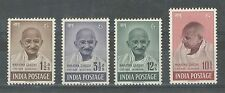 India 1948 Ghandi Set XF- Superb MNH/UMM, White Gum