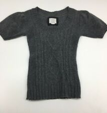 OLD NAVY Juniors Wool Blend Cable Knit Sweater Gray Size Small