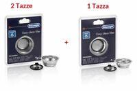 DE LONGHI Kit Filtro Crema 1 Tazza+Filtro 2 Tazze Macchina Caffè DEDICA SCULTURA
