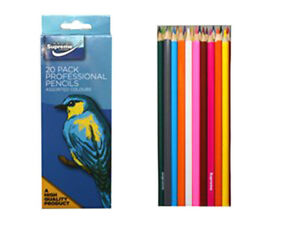 Pack Of 20 High Quality Professional Colouring Pencils -Assorted Colours