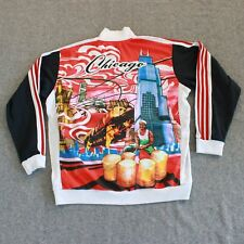 Adidas Chicago Chitown Track Jacket Mens XL Sears Tower Skyline The L Train