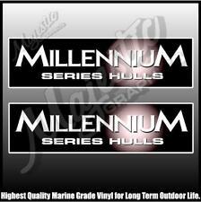 MILLENNIUM HULLS -  QUINTREX - 250mm X 70mm X 2 - BOAT DECALS