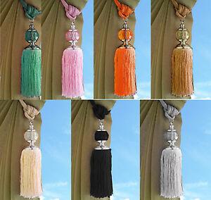 Large Tie Backs Prism Ball Tassel Curtain Rope Tieback  Single Pair HoldBacks