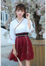 Fairy Vintage Chinese Wind Costumes Women Student Cosplay Top Skirt Suit Gift