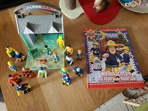 Feuerwehrmann Sam Figuren + Buch Weihnachten