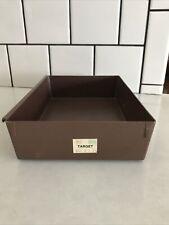Rubbermaid vintage storage organizer with Target price tag brown