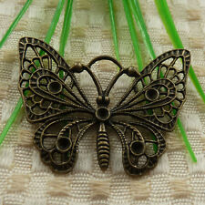 free ship 15 pieces Antique bronze butterfly charms 48x38mm #4307