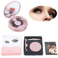 Natural Eye Lashes Extension Liquid Eyeliner w/Tweezer False Eyelashes Magnetic